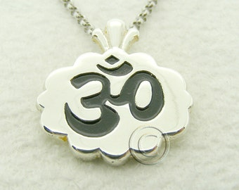 Om Sterling Silver 16 chain and Pendant