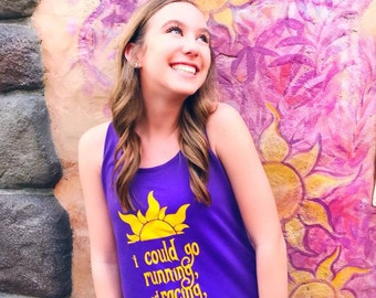 I Could Go Running Racing Dancing Chasing // Tangled Rapunzel Flynn Rider // Disney World // going to Disney // custom printed