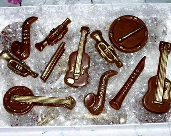 24 Chocolate Musical Instruments-cupcake toppers