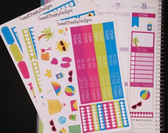 Summer Beach Weekly Planner Kit!  Available for Erin Condren Life Planner or MAMBI/Happy Planner