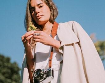 Classic Brown Leather Camera Strap, Tan Camera Strap, Classic Camera Strap, Women Camera Strap, Handmade Camera Strap, DSLR Straps