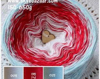 SKYE MANDALA OMBRE yarn, Colour Change Gradient Cake Yarn, Gradient Yarn, Cake Yarn, Self Striping, SkyeBazaar 320-210-585-550-640-670