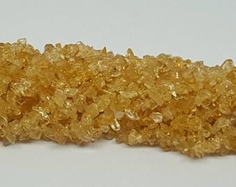 Citrine Semi Precious Stone Chips