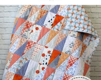 Auburn Quilt Pattern - Beginner Quilt Pattern - Modern Quilt Pattern