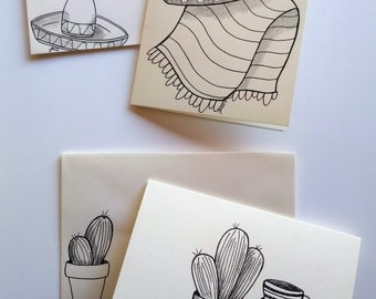 Southwest Hand Drawn Greeting Cards