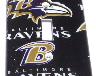 Baltimore Ravens Print Single Toggle Light Switch Plate Cover