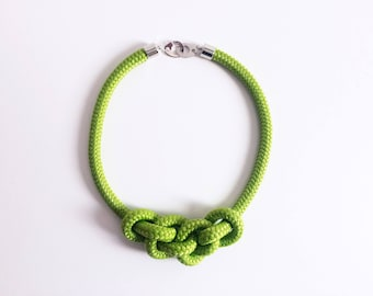 String Necklace apple green color