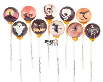Ghost and Ghouls 3D Lollipops (10 Scary Designs) Handcrafted with Gift Package