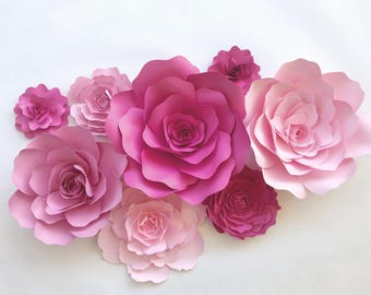 Pay for paper wall flowers