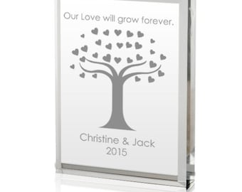 Engraved Our Love Will Grow Acrylic Keepsake