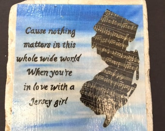 Bruce Springsteen inspired New Jersey Coaster