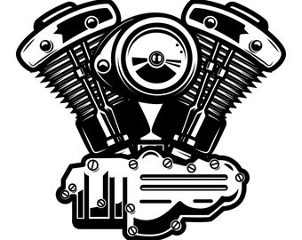 Motorcycle engine SVG, Engine SVG, Bike engine svg, Motorcycle svg, Mechanic svg, Silhouette, SVG, Graphics, Illustration, Logo, Digital