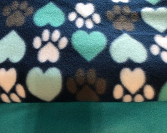 Throw Blanket Puppy Paw Prints Blanket Tie Kit Dog Blanket Birthday Present