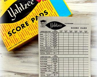 Vintage Yahtzee Score Card Sheets / 5 Sheets / Daily Planner / Junk Journal