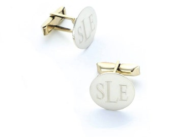 Engrave Cuff Links Sterling Silver