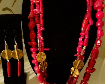 Red coral and Brass