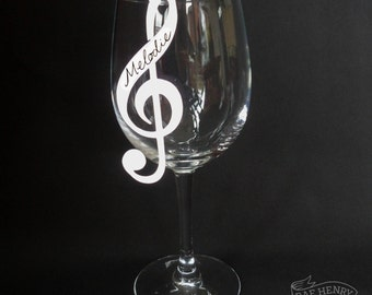 10 Treble Clef Place Cards White Musical Note Wine Glass Decorations Name Cards Music Jazz Wedding/ Party