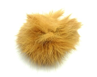 Ball of Brown plush with loop elastic size 60mm