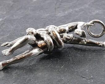 Kamasutra pendant 925 sterling silver  - Kamasutra  Anhänger 925 Sterling Silber  -  1242