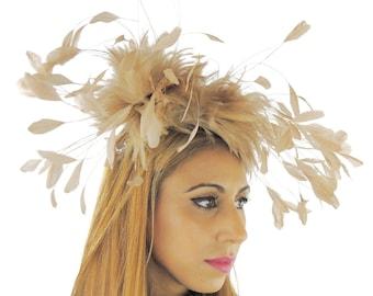 Nerz Adler Fascinator Hut für Hochzeiten, Rennen und Veranstaltungen mit Stirnband