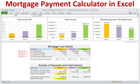 Mortgage Calculator With Taxes Insurance PMI HOA PITI Extra - Sample billing invoice excel official ugg outlet online store
