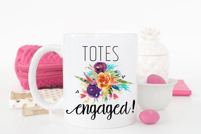 engaged mug totes engaged engagement gift engagement mug. Black Bedroom Furniture Sets. Home Design Ideas
