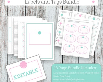 Labels, Printable Blank Labels for Organizing, Printable Tags, Office Organization, Jumbo Labels and Tags Bundle,