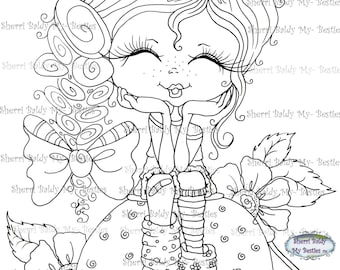 INSTANT DOWNLOAD Digital Digi Stamps img403 Big Eyed  Besties Big Head Dolls Digi By Sherri Baldy