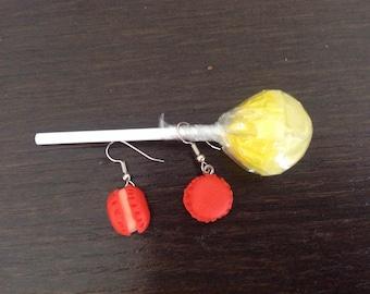 Fancy Red macarons earrings