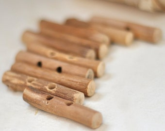 birch wooden toggle buttons  •  birch wood button