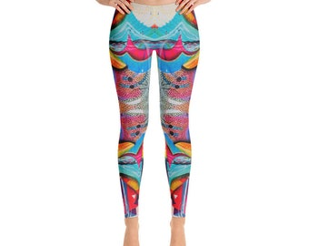 Prism Water Waves Leggings for Beach / Festival / Yoga / Statement