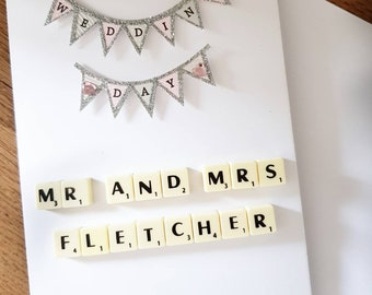 Personalised wedding card, custom wedding card, Mr and Mrs, Mr and Mr, Mrs and Mrs, unity card, partnership card