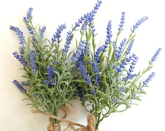 Lavender bouquet, faux, hand-tied, lavender bundle, artificial lavender, lavender wedding, lavender bouquet. fake lavender, artificial