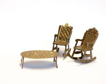 Dollhouse furniture | Brass