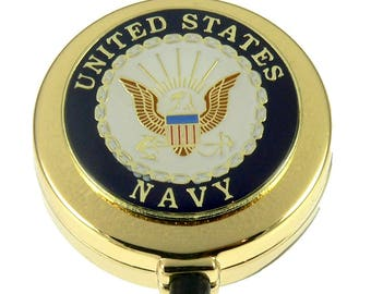 US Navy Military Armed Forces Retractable Security ID Card Holder Badge Reel