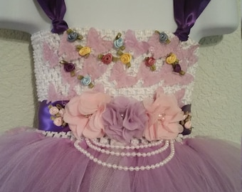 Purple and Lavender Easter sparkle dress