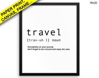 Travelling Prints Travelling Canvas Wall Art Travelling Framed Print Travelling Wall Art Canvas Travelling Travel Art Travelling Travel
