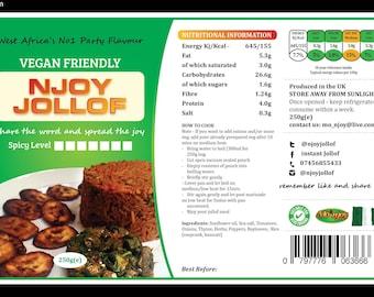 Njoyjollof's Instant Jollofrice (250g). Share the word and spread the joy.. Njoyjollof