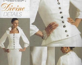 Vogue V8355  Divine Details Misses' Top And Skirt  Size (14-20)  UNCUT