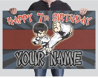 BANNER - Martial Arts Birthday Banner