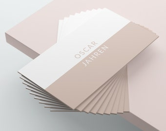 White and Cream Business Card Design, Business Card Template, Premade Business Card, Printable Business Card, Beige, Taupe, Modern, Minimal