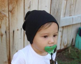Slouchy beanie, baby slouchy beanie, slouchy hat, toddler beanie, baby beanie, plain black, gray slouchy beanie, solid color beanie, hipster