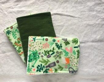 Burp Cloths - Garden (Set of 3)