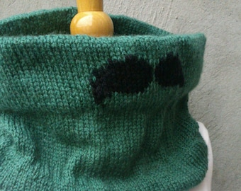KNITTING PATTERN Mustache cowl, easy knitting pattern, beginner knitting pattern, easy cowl pattern, beginner cowl pattern, mustache knit