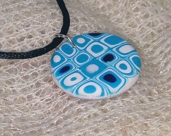 Blue squares and circles