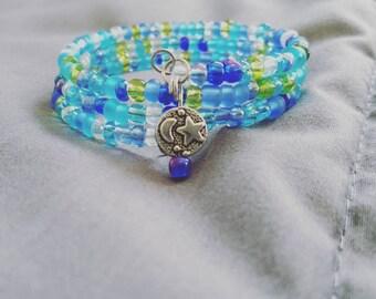 Once in a Blue Moon - Moonlight Coil Bracelet