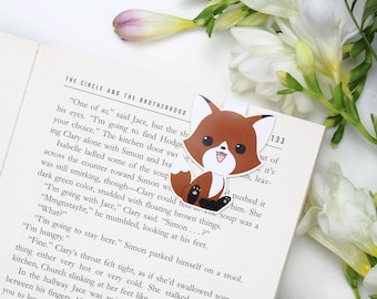 Little Fox - Magnetic bookmark || foxes, happy planner, literary gift, paper clips, book lover, planner bookmark, forest animal, clip