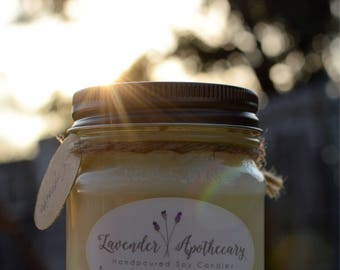 Handmade Soy Candle - Mason Jar - Scented Candle - Handpoured - Gifts for Her - Gifts - 8 oz - Soy Candle - Natural