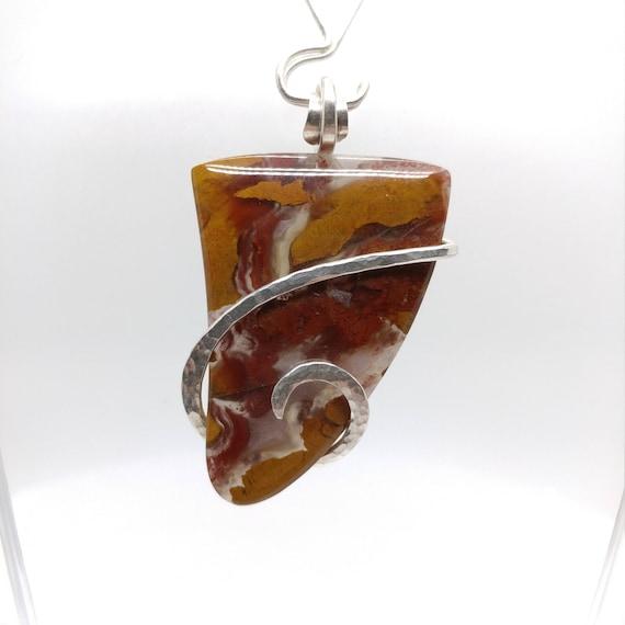 Stone Canyon Jasper Pendant | Fine Jasper Jewelry | Sterling Silver Pendant |  Rare Stone Necklace | Simple Stone Pendant | California