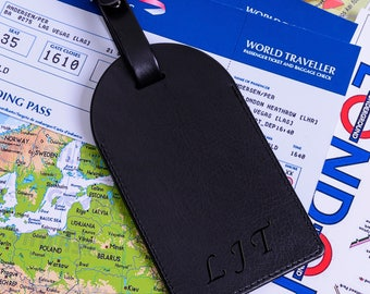 Personalised Initials Luggage Tag
